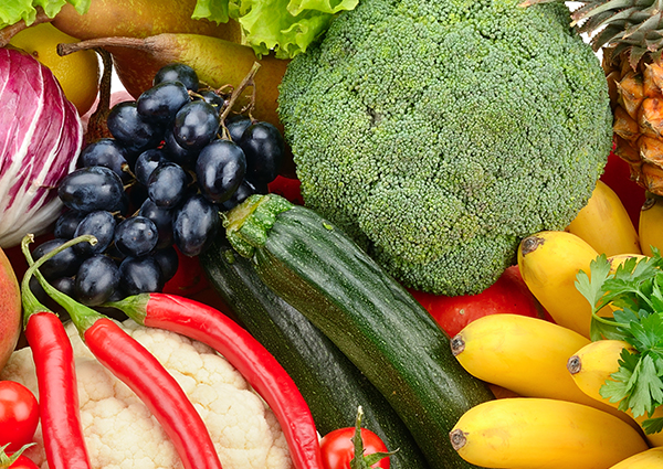 assortment of fresh vegetables and fruits