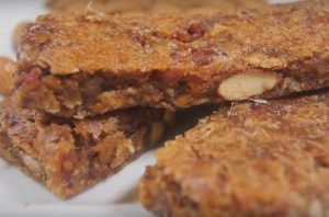 Close up of whole grain fiber bars