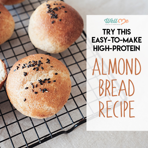 almond bread recipe title card