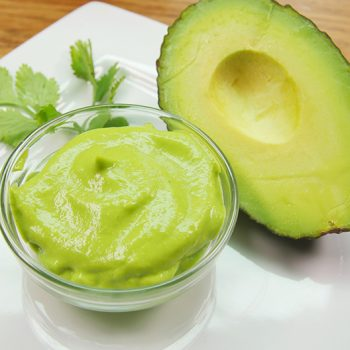 small bowl of healthy avocado dressing
