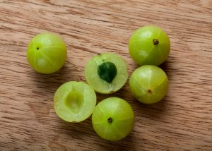 superfood indian gooseberries or amla on a table