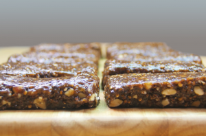 Freshly made protein bars made from cricket flour
