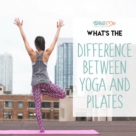 difference between yoga and pilates title card