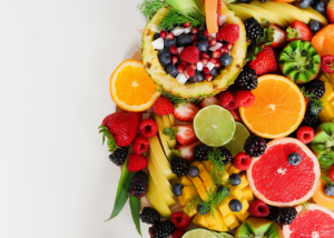 flatlay of assorted colorful pieces of fruit