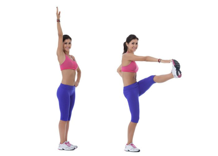 woman doing inner thigh pulse leg exercises