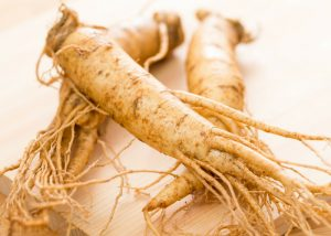 close up of ginseng root