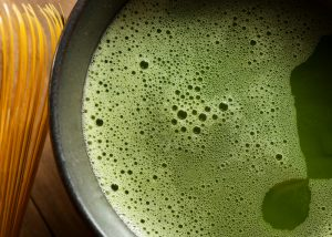 a cup of fresh matcha green tea