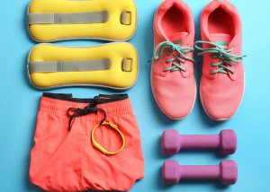 flatlay of workout gear for women