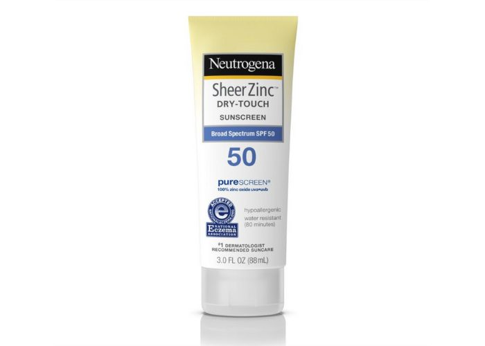 Neutrogena Sheer Zinc Dry Touch Broad Spectrum SPF 50 sunscreen