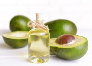 a bottle of avocado oil, renowned for its skin and health benefits
