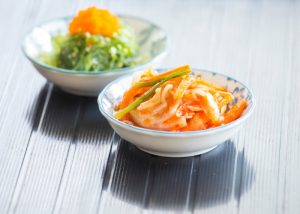 A small dish of nutrient-rich kimchi