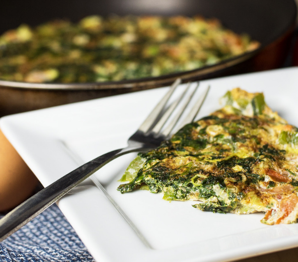 low calorie egg white frittata for post-workout meal