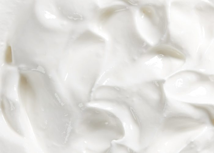 Close up of homemade yogurt