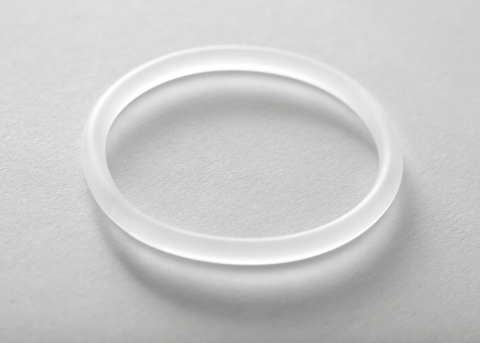 Transparent vaginal ring used for birth control