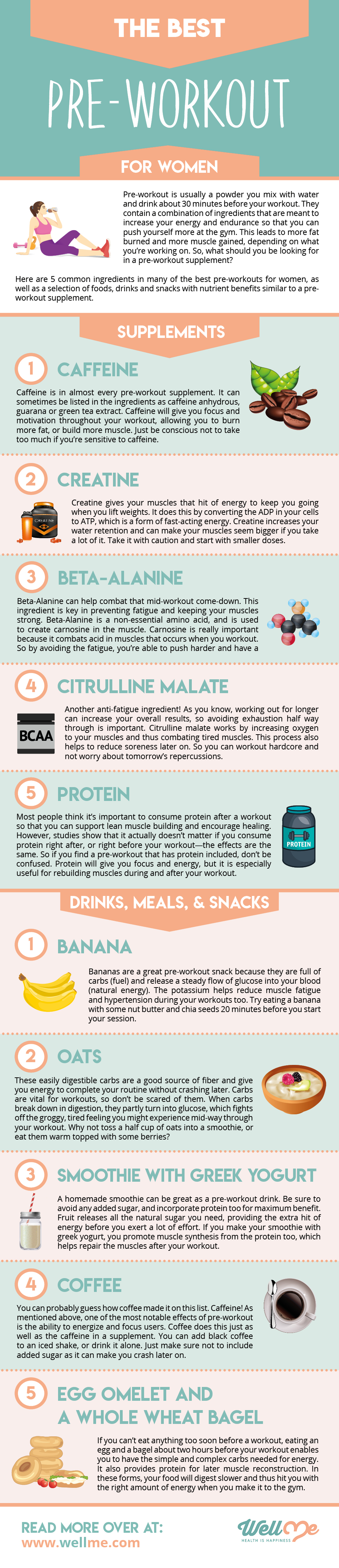The Best Pre-Workout For Women Infographic