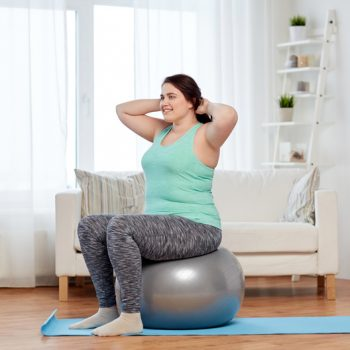 exercise ball workout feature image
