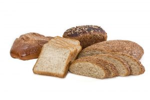 A variety of whole grain breads
