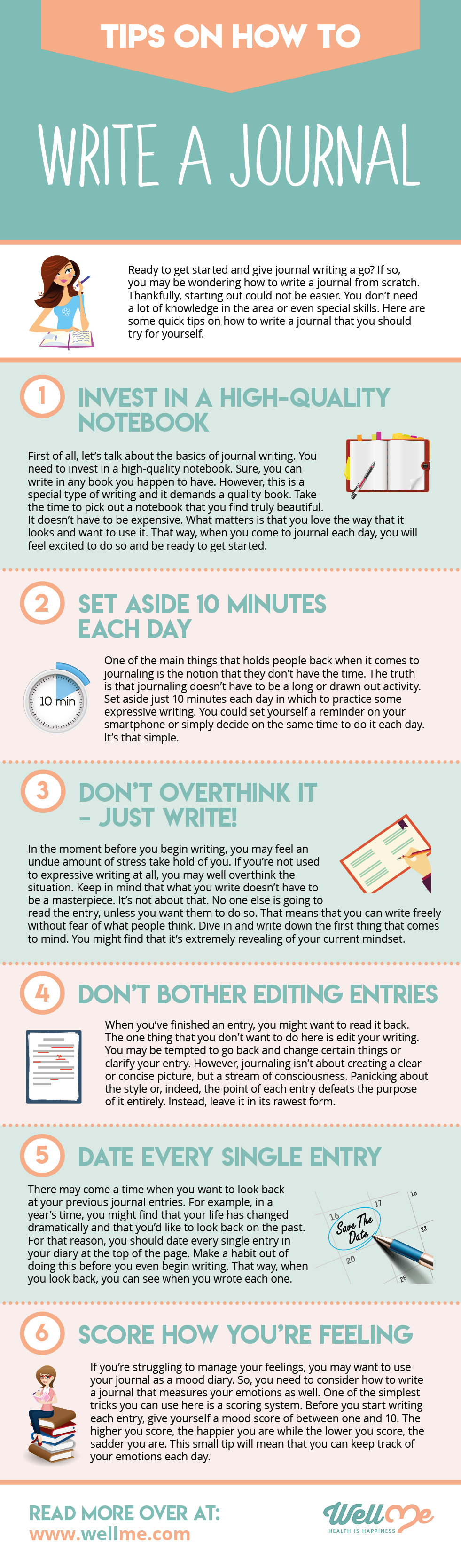 If you're ready to start a journal, here's an infographic with the steps to take first: #journal #journaling #howtowriteajournal #writingtips #benefitsofjournaling #morningpages