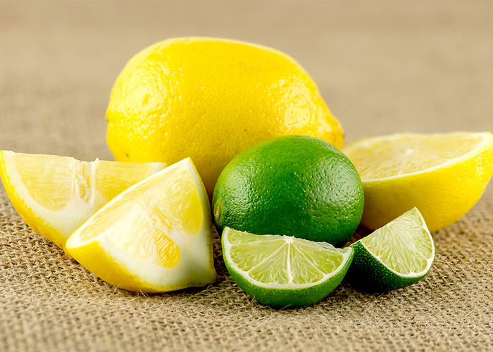 A pile of lemons and limes