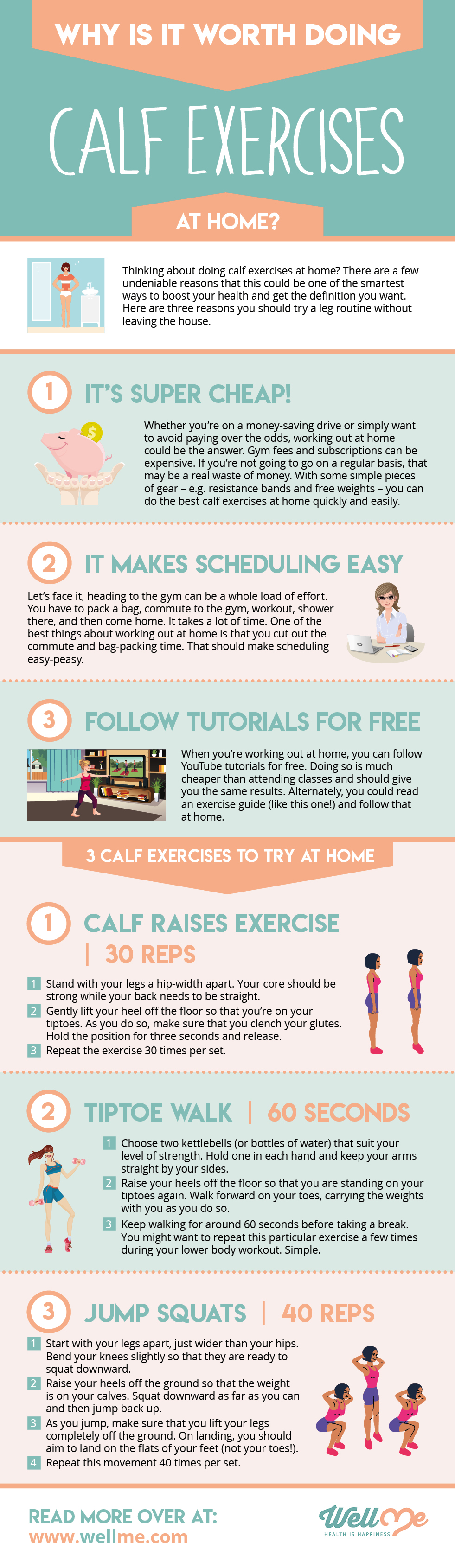 best calf exercises infographic