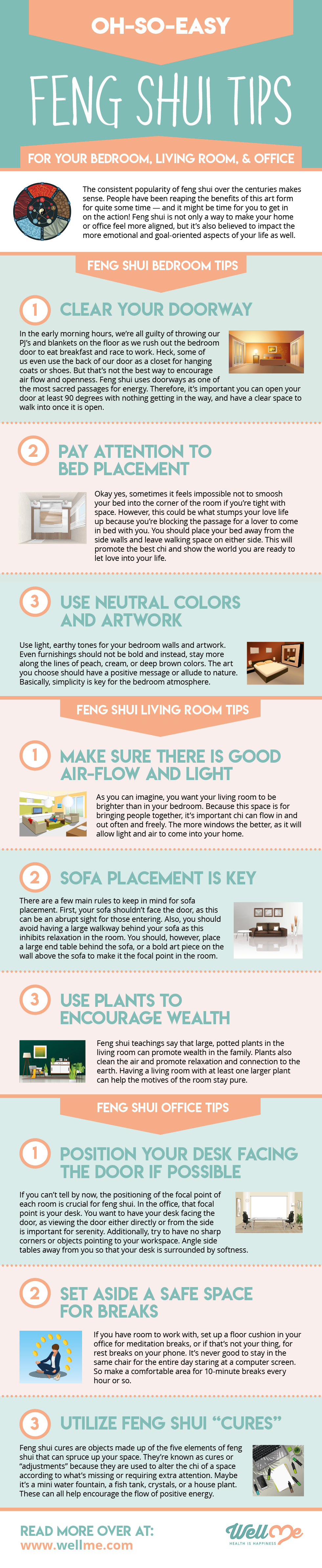 Oh-So-Easy Feng Shui Tips For Your Bedroom, Living Room, and Office