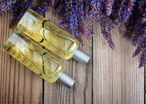 Two bottles of clary sage essential oil