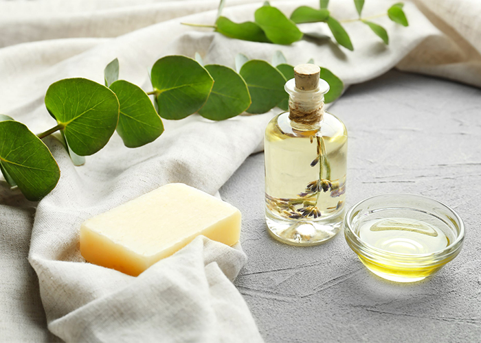 Eucalyptus and peppermint soap essential oil blends for congestion relief