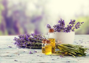 Bottle of anise essential oil blended with lavender oil