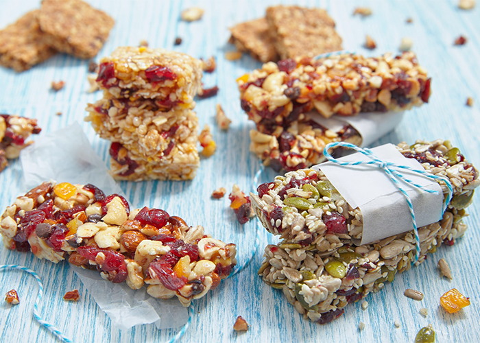 Nuts and fruits Keto protein bars