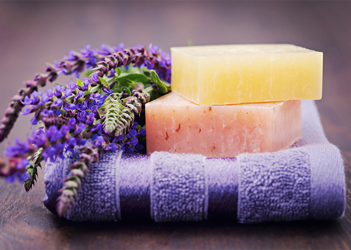 Soap essential oil blends for period cramp relief