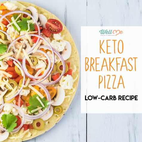 Keto Breakfast Pizza: Low-Carb Recipe
