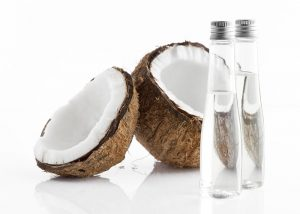large bottles of coconut essential oil