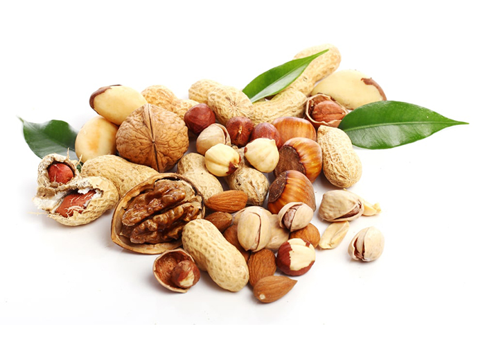 Nuts and seeds for Paleo snacks