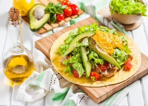 paleo-tortilla-with-chicken-lettuce-tomato-and-avocado
