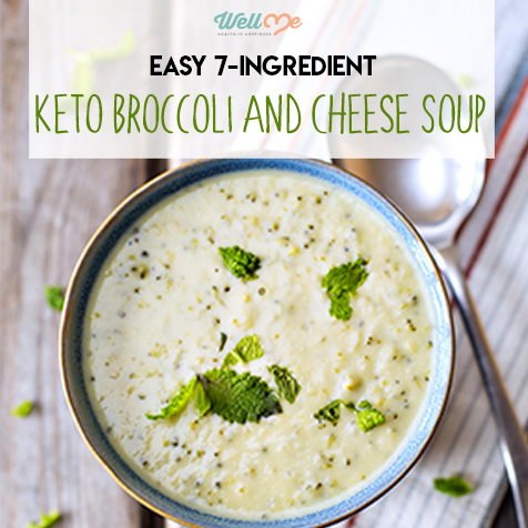 Easy 7-Ingredient Keto Broccoli and Cheese Soup