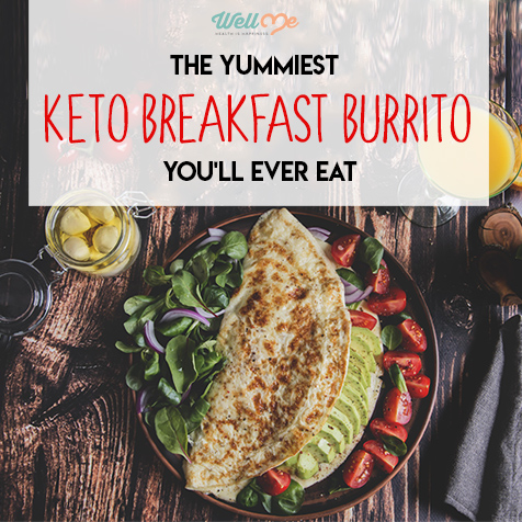 The Yummiest Keto Breakfast Burrito You'll Ever Eat